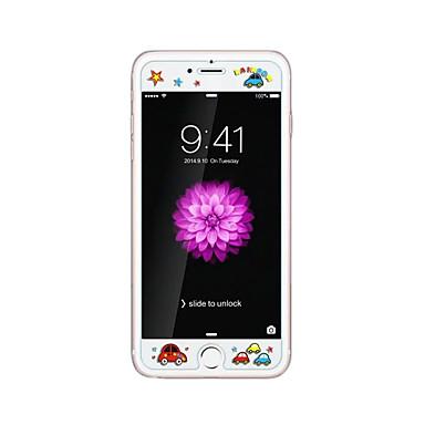 لابل اي فون 6 / 6S بالإضافة إلى 5.5INCH الزجاج الشفاف الأمامي حامي الشاشة مع زخرف الكرتون نمط توهج في الظلام الطيور