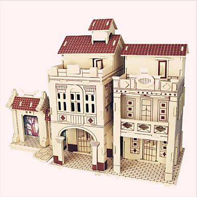 puzzle Ahşap Yapbozlar Yapı taşları DIY Oyuncak Ünlü Binası Çin Mimarisi Ev 1 Ahşap Kristal Model ve İnşaa Oyuncakları