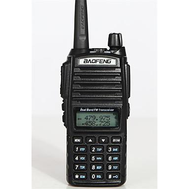 BAOFENG -82 Telsizler Elde Kullanılabilir Düşük Pil Uyarısı Acil Durum Alarmı Güç Tasarrufu İşlevi Ses Komut İstemi Dual Bant Dual
