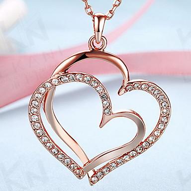 Inimă Iubire Inimă Modă European Coliere cu Pandativ Bijuterii 18K de aur Aliaj Coliere cu Pandativ . Zilnic Casual