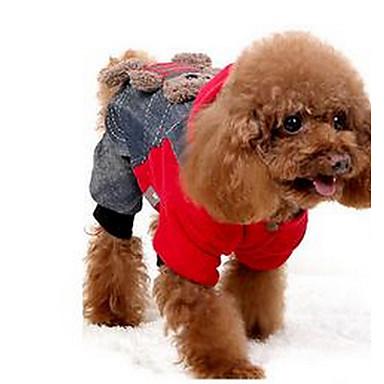 كلب المعاطف كنزة ملابس الكلاب كاجوال/يومي الرياضات دب أحمر كوستيوم للحيوانات الأليفة