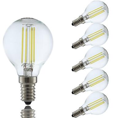 4W E14 LED Λάμπες Πυράκτωσης P45 4 leds COB Θερμό Λευκό Ψυχρό Λευκό 350-400lm 6500/2700K AC 220-240V