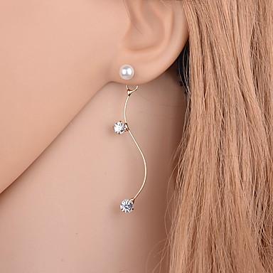 Cercei Stud Cristal Perle Ștras imitație de diamant Aliaj Auriu Argintiu Bijuterii Pentru Zilnic Casual 1 pereche
