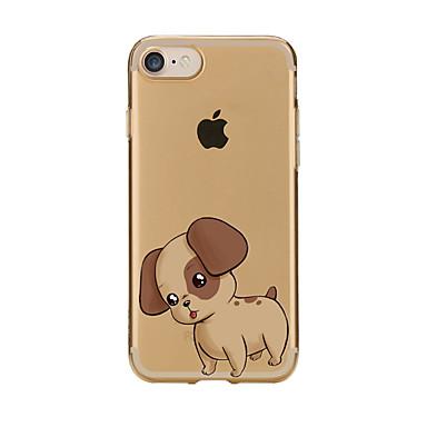 Varten Läpinäkyvä Kuvio Etui Takakuori Etui Koira Pehmeä TPU varten AppleiPhone 7 Plus iPhone 7 iPhone 6s Plus/6 Plus iPhone 6s/6 iPhone