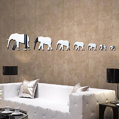 Aynalar Şekiller Soyut Duvar Etiketler Kristal Duvar Çıkartmaları Duvar Stikerları Dekoratif Duvar Çıkartmaları,Vinil MalzemeEv