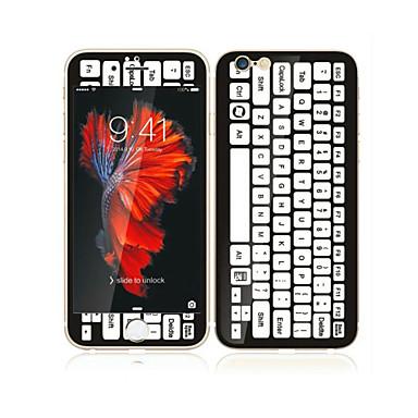 ل6S ابل اي فون بالإضافة إلى / 6 زائد 5.5 خفف من الزجاج مع حامي حافة ناعمة التغطية الكاملة الشاشة الشاشة الأمامية وحامية ظهر نمط لوحة