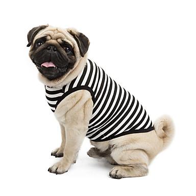 Pisici Câine Tricou Hanorca Îmbrăcăminte Câini Clasic Draguț Nuntă Casul/Zilnic Modă Sport Dungi Portocaliu Gri Galben Albastru Roz