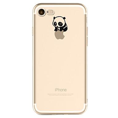 غطاء من أجل Apple iPhone X إفون 8 قضية فون 5 iPhone 6 iPhone 7 نموذج غطاء خلفي اللعب بشعار آبل باندا ناعم TPU إلى iPhone X iPhone 8 Plus