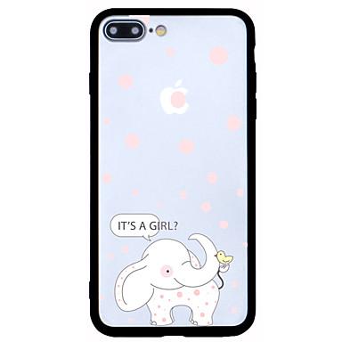 Για Προστασία από τη σκόνη Με σχέδια tok Πίσω Κάλυμμα tok Ελέφαντας Σκληρή Ακρυλικό για AppleiPhone 7 Plus iPhone 7 iPhone 6s Plus/6 Plus