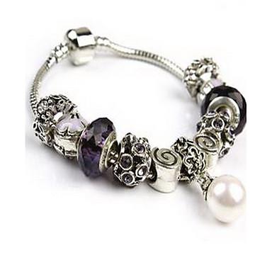 Damskie Bransoletki i łańcuszki na rękę Kryształ Luksusowy Miłość Natura Modny Kryształ Imitacja diamentu Stop Round Shape Kotwica