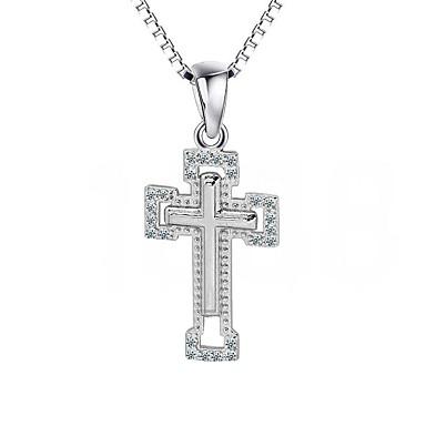 Pandative Cross Shape Plastic Diamante Artificiale Lux În Cruce Bijuterii Pentru Zilnic Casual