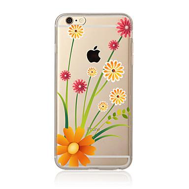 Varten Läpinäkyvä Kuvio Etui Takakuori Etui Kukka Pehmeä TPU varten AppleiPhone 7 Plus iPhone 7 iPhone 6s Plus/6 Plus iPhone 6s/6 iPhone