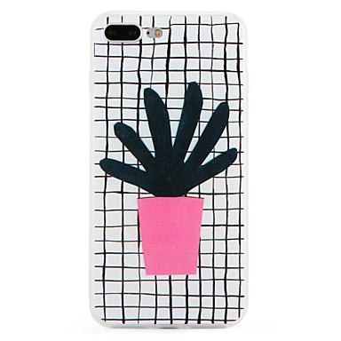 Pentru Model Maska Carcasă Spate Maska Linii / Valuri Moale TPU pentru Apple iPhone 7 Plus iPhone 7
