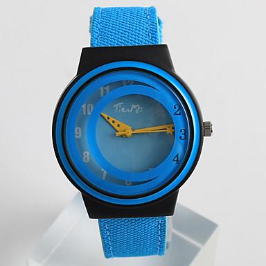 Kadın's Moda Saat Benzersiz Yaratıcı İzle Quartz / PU Bant Günlük Mavi Gri