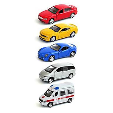 Samochodziki do zabawy zestawy do zabawy zawierające pojazdów Wyścigówka Radiowóz Zabawki Symulacja Samochód Metal Plastikowy Żelazo