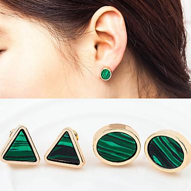 Kolczyki na sztyft Turkusowy Stop Green Biżuteria Na Ślub Impreza Codzienny Casual 1 para
