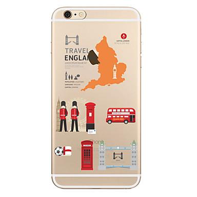Etui Käyttötarkoitus Apple iPhone X iPhone 8 Plus Läpinäkyvä Kuvio Takakuori city View Pehmeä TPU varten iPhone X iPhone 8 Plus iPhone