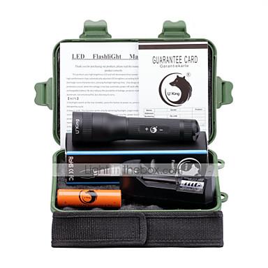 U'King Lanterne LED Kit Lanternă LED 3000 Lumeni 5 Mod Cree XM-L L2 18650 Focalizare Ajustabilă Camping/Cățărare/Speologie Utilizare