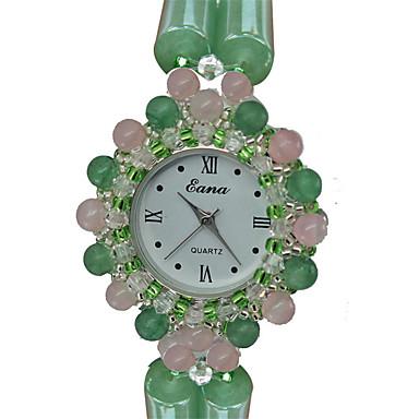 Modny Zegarek na bransoletce Kwarcowy Nefrytowy Pasmo Z Wisorkami Na co dzień Zielnony Arm Green