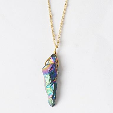 للمرأة مطلية بالذهب قلائد الحلي القلائد بيان  -  قديم عبارة euramerican في التقزح اللوني قلادة من أجل عيد ميلاد يوميا