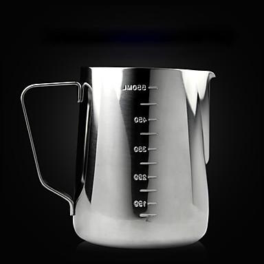 1000 ml Ruostumaton teräs Maitovaahdottimet , Latte Art valmistaja Uudelleenkäytettävä