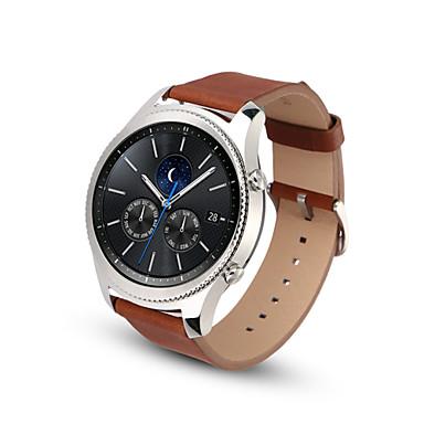 Watch Band na Gear S3 Frontier Gear S3 Classic Samsung Galaxy Klasyczna klamra Skóra Opaska na nadgarstek