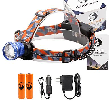 U'King Czołówki Reflektor 2000 lm 3 Tryb Cree XM-L T6 z bateriami i ładowarkami Zoomable Regulacja promienia Niewielki rozmiar Łatwe