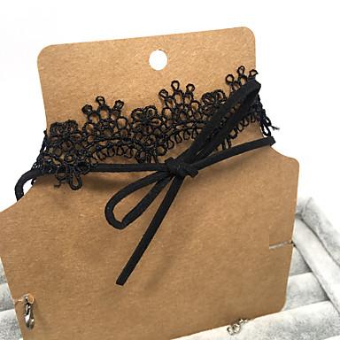 Kadın Crown Shape Çiçek Dövme Stili Temel Çift katman Gerdanlıklar Mücevher Dantel Gerdanlıklar , Düğün Parti Özel Anlar Doğumgünü Nişan