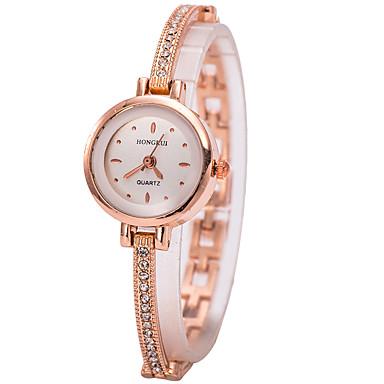 pentru Doamne Ceas Brățară Ceas de Mână Simulat Diamant Ceas Quartz imitație de diamant Ștras Aliaj Bandă Charm Auriu