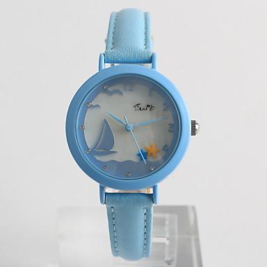 Ceas La Modă Ceas Elegant  Quartz / PU Bandă Casual Alb Albastru Violet