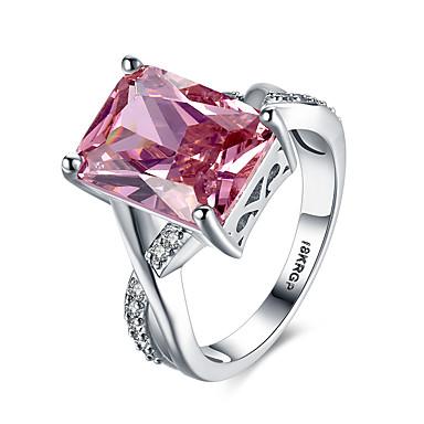Pentru femei Adorabil Lux / Boem / Hipoalergenic Cristal / Zirconiu Cubic Cristal / Zirconiu / Articole de ceramică Inel - Pătrat /