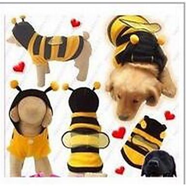 Γάτα Σκύλος Παλτά Ρούχα για σκύλους Χαριτωμένο Μονόχρωμο Κίτρινο Στολές Για κατοικίδια