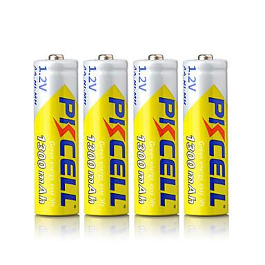 pkcell επαναφορτιζόμενες AA 1300mAh 1.2V μπαταριών NiMH 4 πακέτο