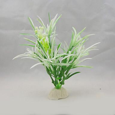 Διακόσμηση Ενυδρείου Υδρόβιο φυτό Τεχνητά Πλαστικό Λευκό