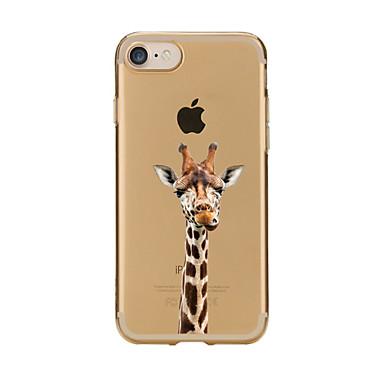 Kılıf Na Apple iPhone 7 Plus iPhone 7 Przezroczyste Wzór Czarne etui Rysunek Miękkie TPU na iPhone 7 Plus iPhone 7 iPhone 6s Plus iPhone