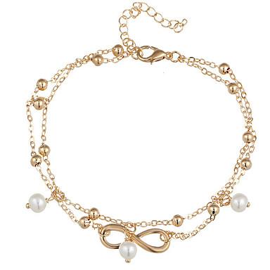 Bransoletki i łańcuszki na rękę - Artystyczny Ręcznie Wykonane Nieskończoność Gold Silver Bransoletki Na Prezenty bożonarodzeniowe Ślub