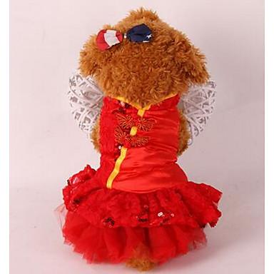 Câine Haine Îmbrăcăminte Câini Draguț Englezesc Rosu Roz Costume Pentru animale de companie