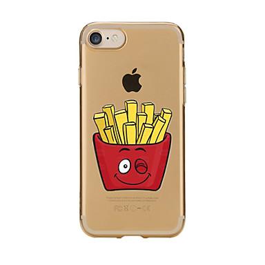 Pouzdro Uyumluluk Apple iPhone 7 Plus iPhone 7 Şeffaf Temalı Arka Kapak Yiyecek Yumuşak TPU için iPhone 7 Plus iPhone 7 iPhone 6s Plus