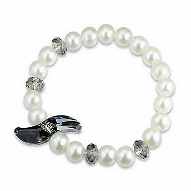 Damskie Bransoletki i łańcuszki na rękę Kryształ Natura Perłowy Kryształ austriacki Circle Shape Wieża Biżuteria Na