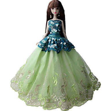 Πριγκίπισσα Φορέματα Για Κούκλα Barbie Φορέματα Για Κορίτσια κούκλα παιχνιδιών