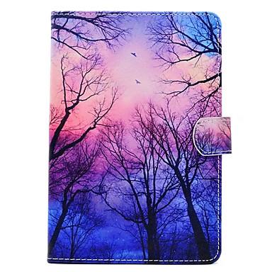 Pouzdro Uyumluluk Apple iPad Mini 4 iPad Mini 3/2/1 Satandlı Temalı Tam Kaplama Kılıf ağaç Sert PU Deri için iPad Mini 4 iPad Mini 3/2/1