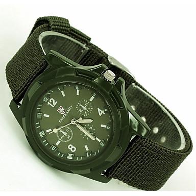 ساعات فاشن كوارتز القماش فرقة أسود أزرق بني أخضر