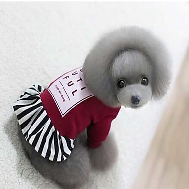 Pies Płaszcze Ubrania dla psów Oddychający Sportowe Stały Black Czerwony Kostium Dla zwierząt domowych