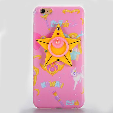 Varten IMD Peili DIY Etui Takakuori Etui 3D piirros Pehmeä TPU varten AppleiPhone 7 Plus iPhone 7 iPhone 6s Plus iPhone 6 Plus iPhone 6s