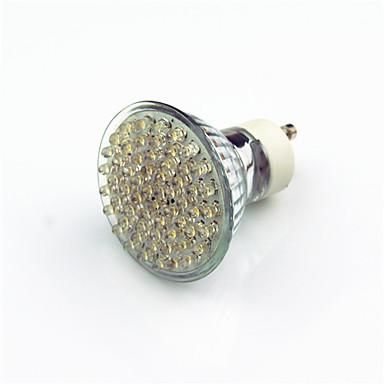 2w gu10 led-valaisin 60-dip-led 200 lm lämmin valkoinen koriste ac220 v 1 kpl
