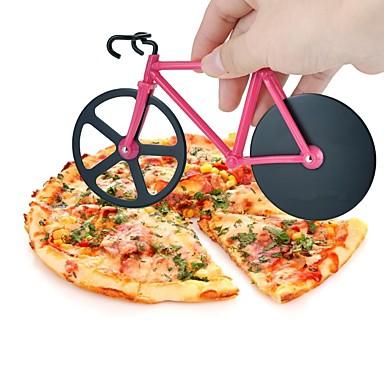 1 piese Cutter pe & Slicer For pentru pizza Plastic Oțel Inoxidabil Calitate superioară Bucătărie Gadget creativ