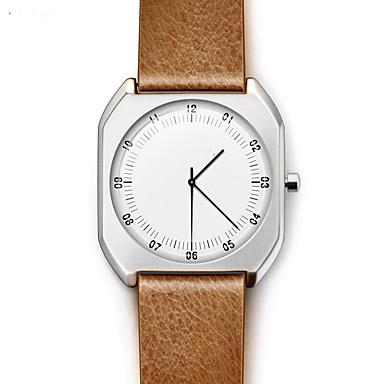 Bărbați Ceas Elegant  Ceas La Modă Ceas de Mână Quartz Calendar Piele Bandă Charm Vintage Casual Atârnat Cool minimalist Negru Roșu