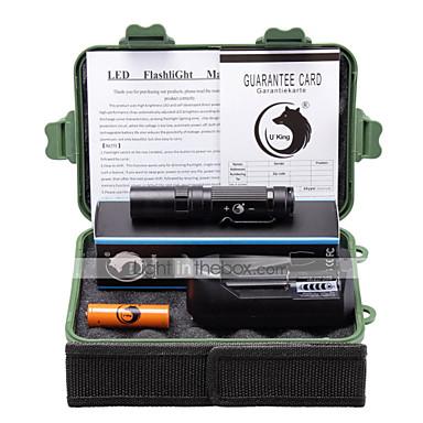 U'King LED taskulamput Taskulamppu-setit LED 3000 Lumenia 3 Tila Cree XM-L L2 Kyllä varten Telttailu/Retkely/Luolailu Päivittäiskäyttöön