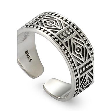 Δαχτυλίδι Πανκ Euramerican χαριτωμένο στυλ Ασήμι Στερλίνας Κυκλικό Κοσμήματα Γάμου Πάρτι Καθημερινά Causal Αθλητικά