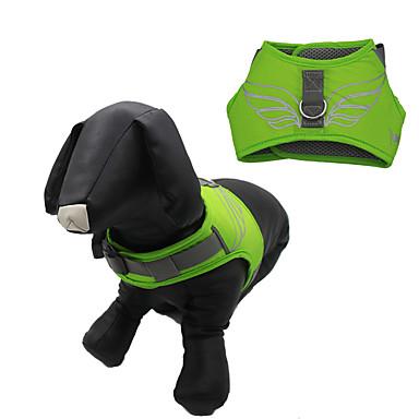 كلب أربطة قابل للسحبقابل للتعديل مقاوم للماء عاكس كارتون نايلون شبكة برتقالي أزرق داكن أصفر أخضر أزرق فاتح